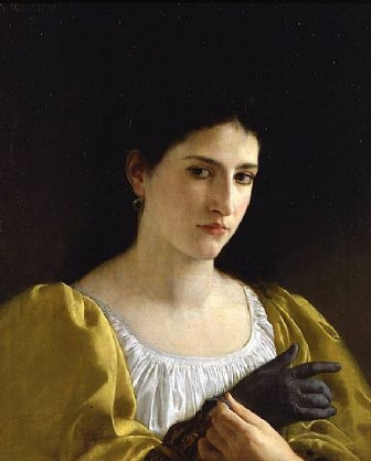 Lady with a glove(William Bouguereau)