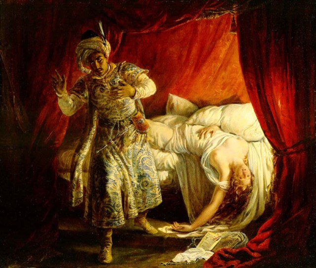 Othello and Desdemona(Alexandre Marie Colin)