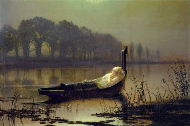 The lady of Shalott( John Atkinson Grimshaw)