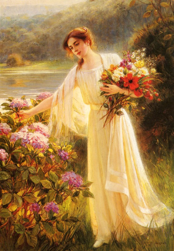 Gathering flowers(Albert Lynch)