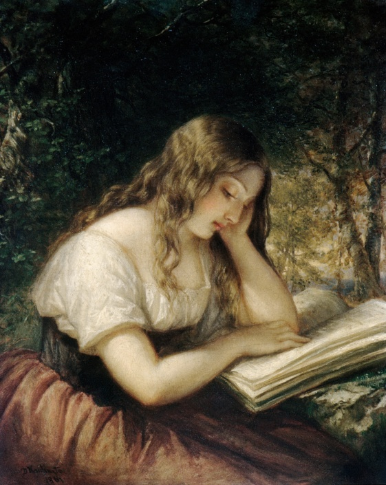 Woman reading(Daniel Huntington)