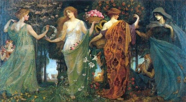 The four seasons(Walter Crane)