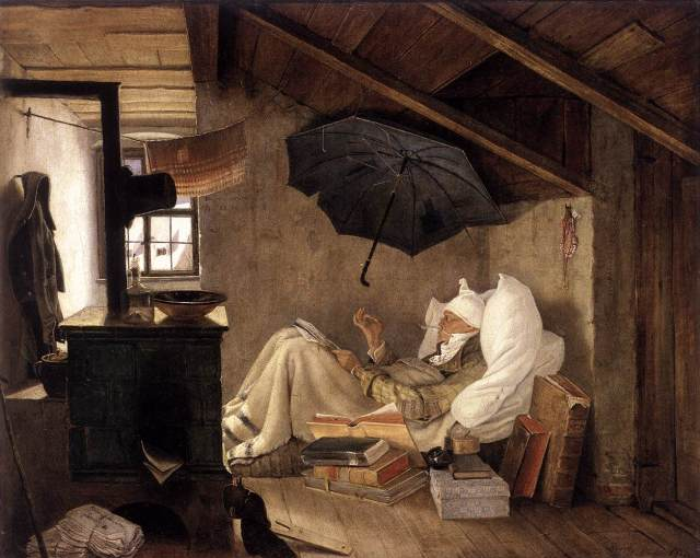 The poor poet (Carl Spitzweg)