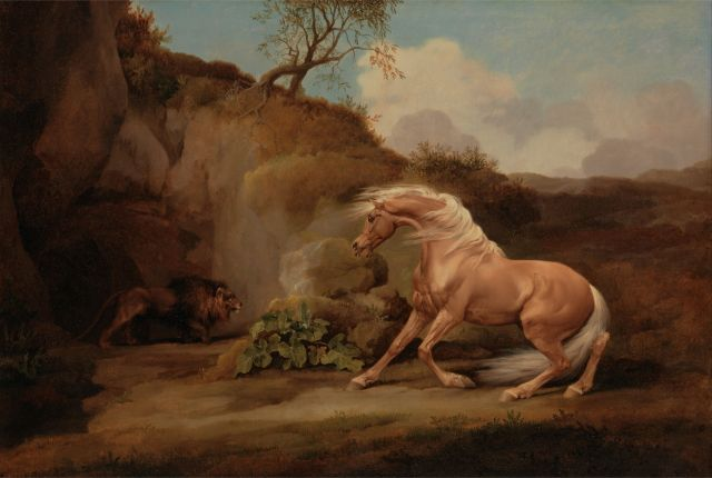 Horse frightened by a lion (George Stubbs)