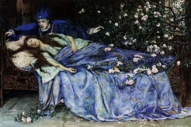 Sleeping beauty (Henry Meynell Rheam)